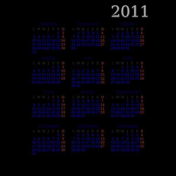 Open Source 2012 pocket calendar
