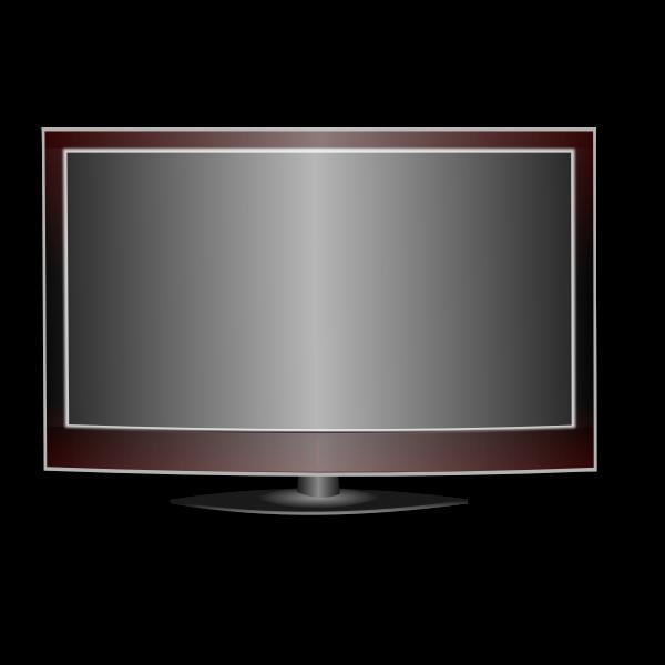 Modern TV vector illustration