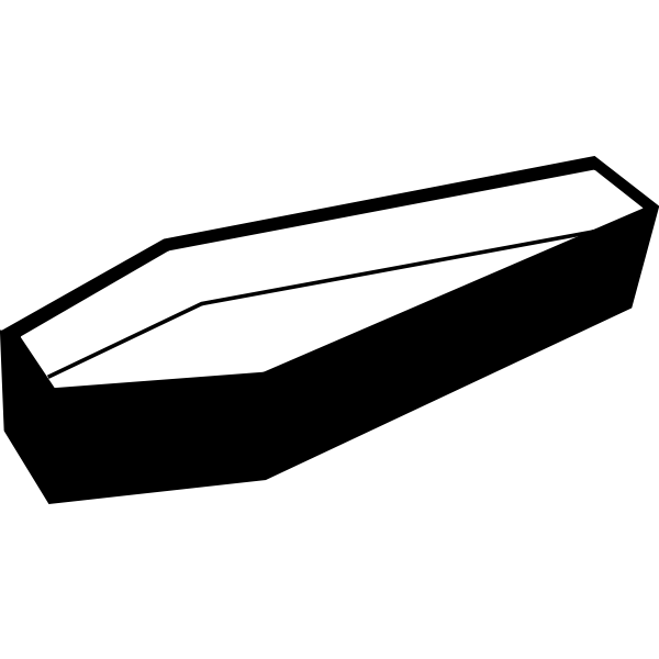 Silhouette vector image of coffin