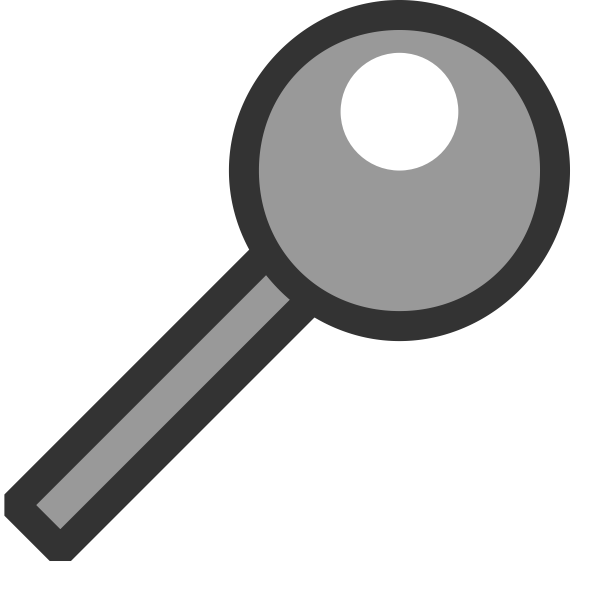 Grayscale search icon vector clip art