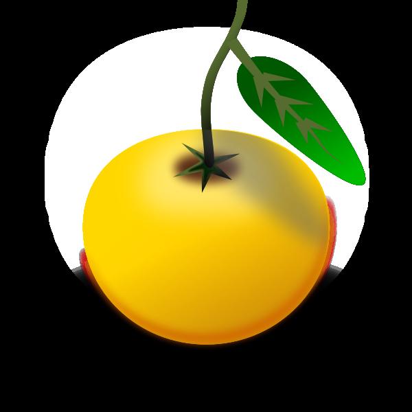 Vector clip art of ripe orange in color