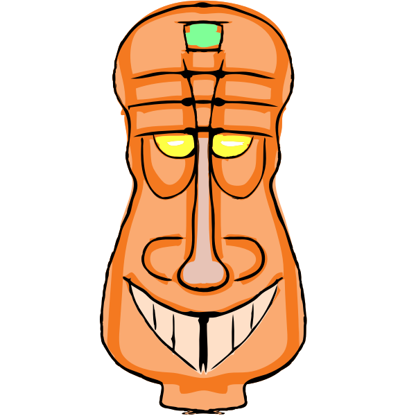 Orange Tiki vector image