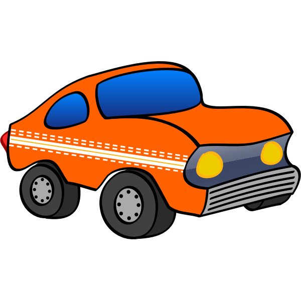 Toy car vector graphics