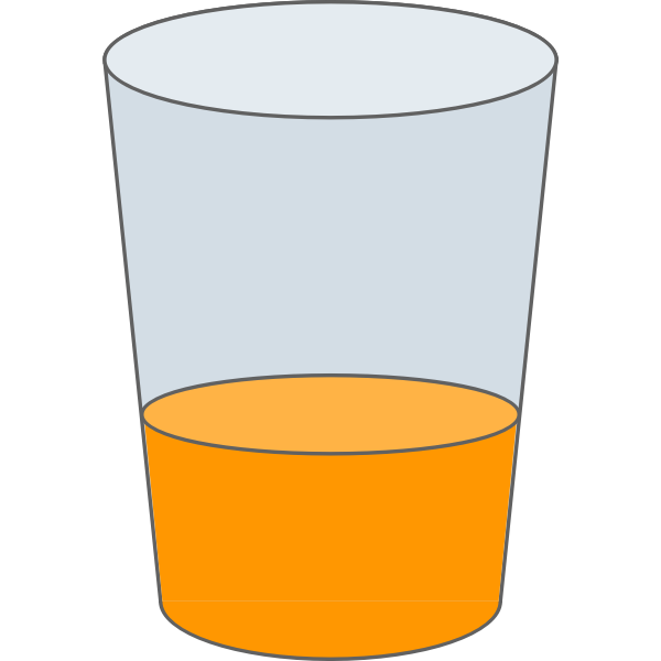 Vector drawing of glass of juice