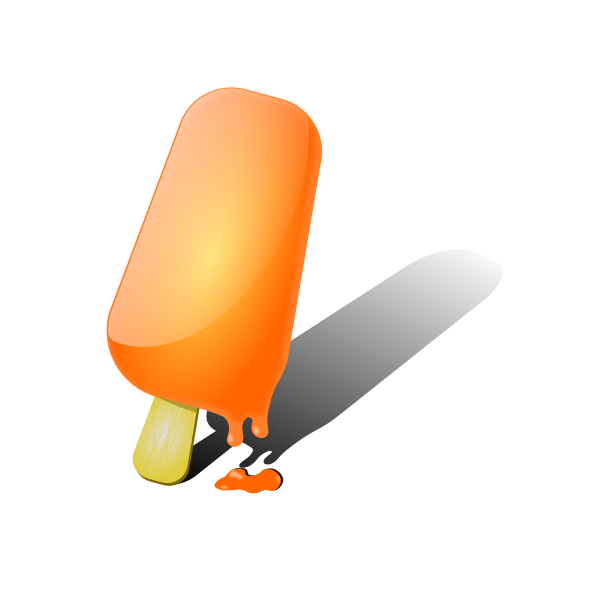 Orange ice-cream vector image