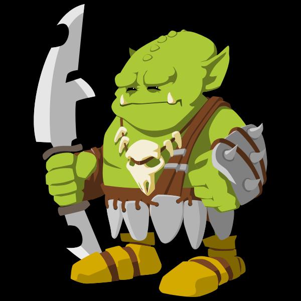 Orc warrior vector image