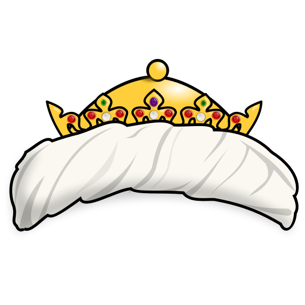 Vector illustration of oriental crown