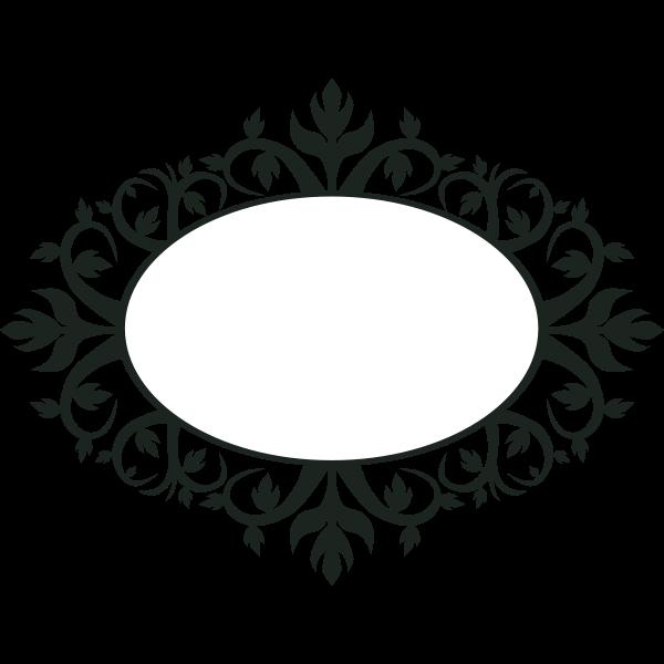Ornamental oval frame vector clip art
