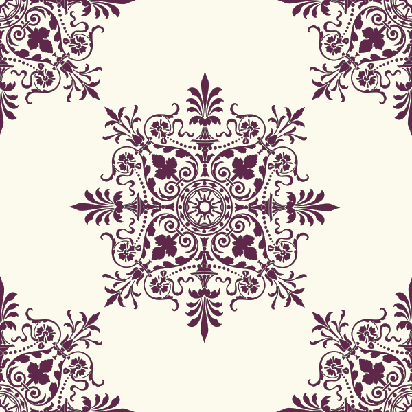 Victorian Background Ornament Vector
