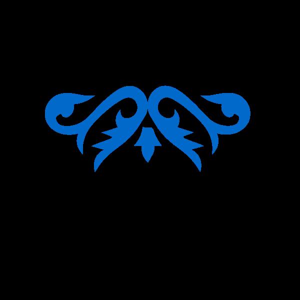 Blue ornamental element