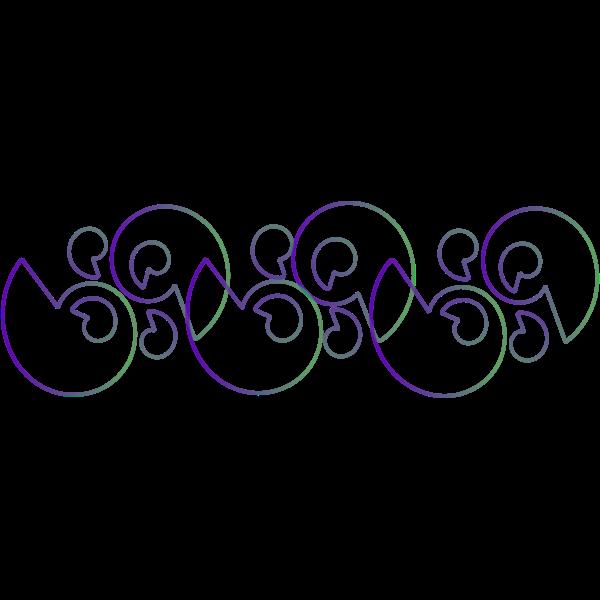 Wavy pattern vector drawing