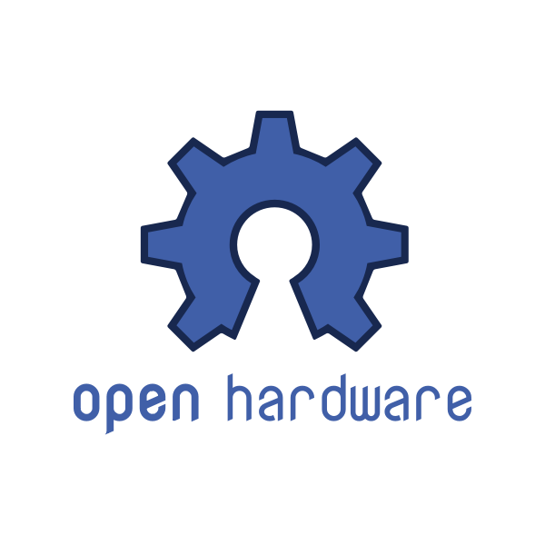Open hardware blue sign vector image
