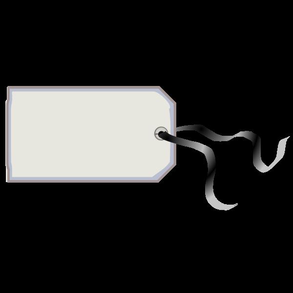 Tag with a ribbon vector image
