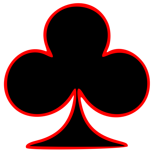 Symbol of a playing card