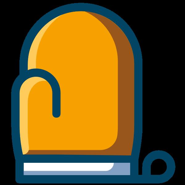 Yellow oven mitten
