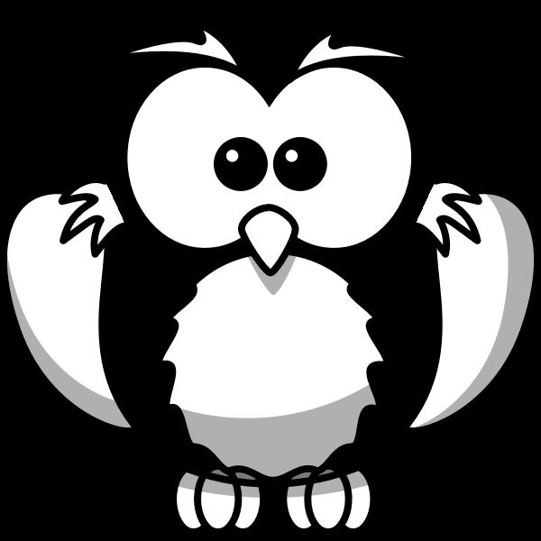 Owl line art vector illustration