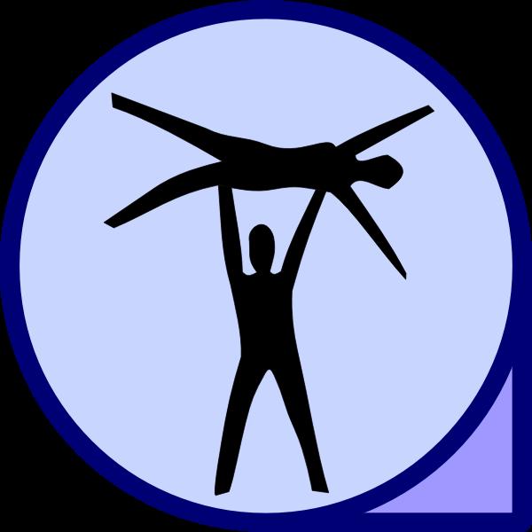 Vector image of acrobatics icon