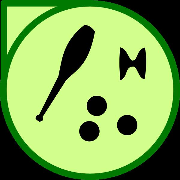 Vector illustration of juggling equipment icon