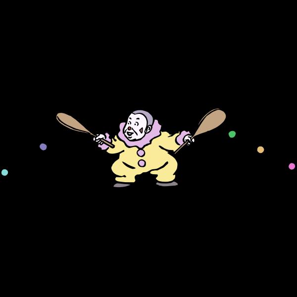 Paddle clown