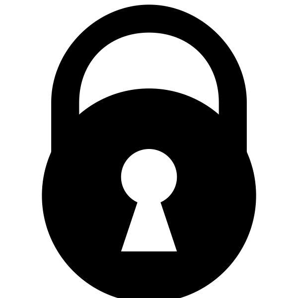 Round padlock silhouette