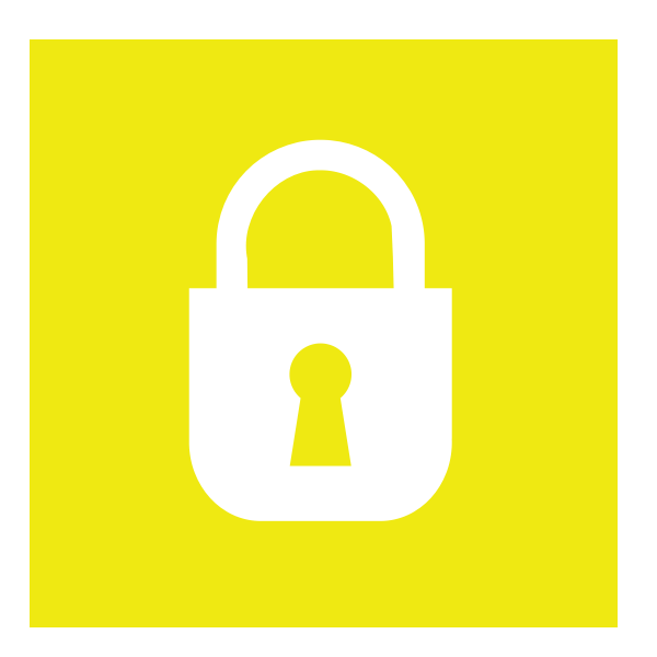 Vector clip art of yellow security icon