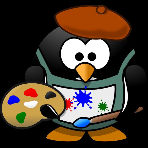 Penguin as an artist