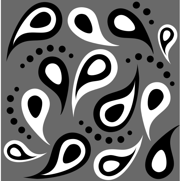 Paisley Simple Vector Pattern