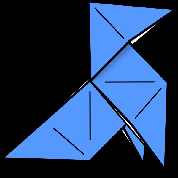 Origami bird in flight vector image