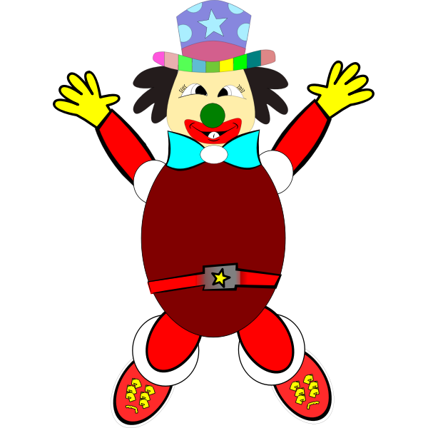 Vector clip art of jumping clown