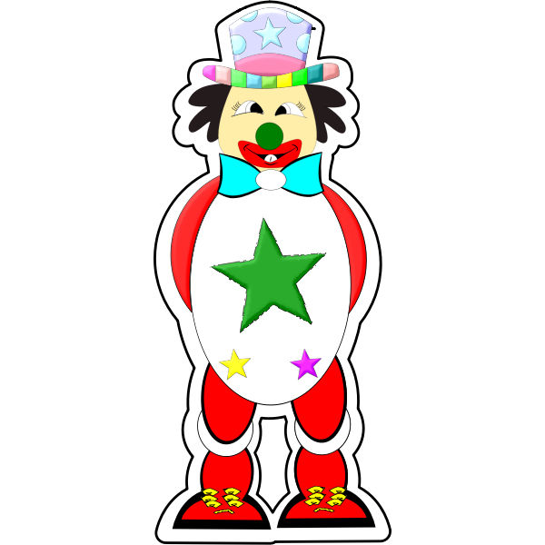 Vector graphics of colorful clown