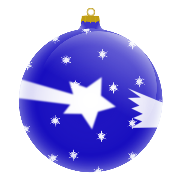 Blue Christmas ornament vector image