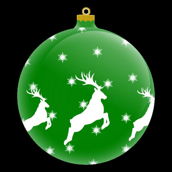 Green Christmas ornament vector image