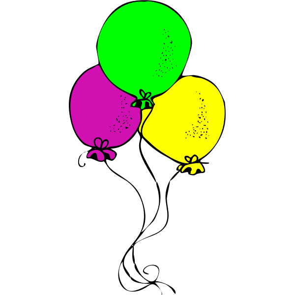 Three colored baloons vector image