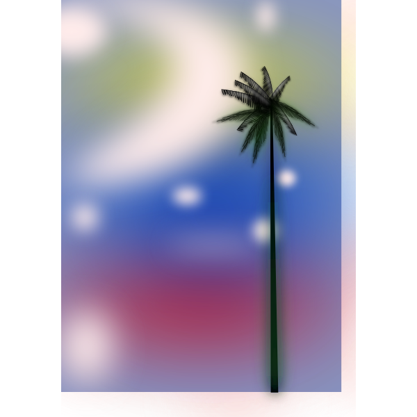 Palm below sky vector image