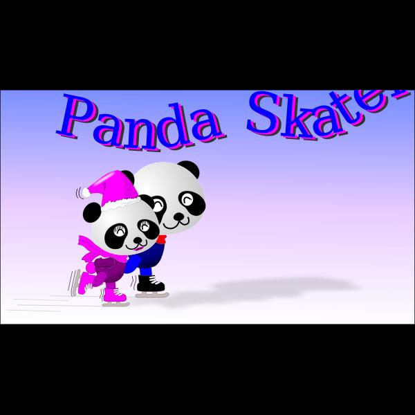 Panda ice skating