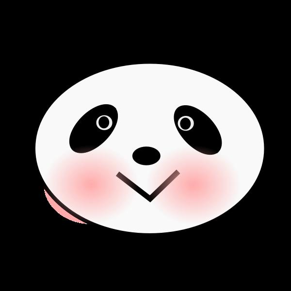 Vector drawing of panda