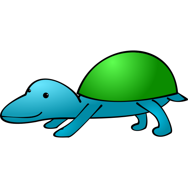 Cartoon animal with shell vector image