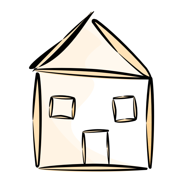 House vector drawing