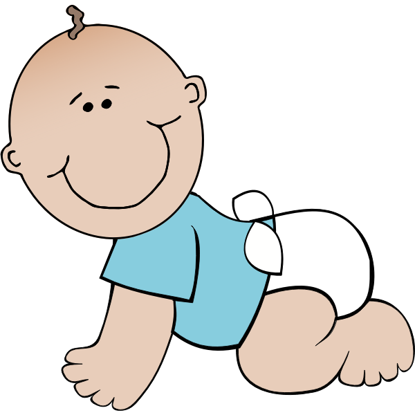 Baby boy crawling vector image