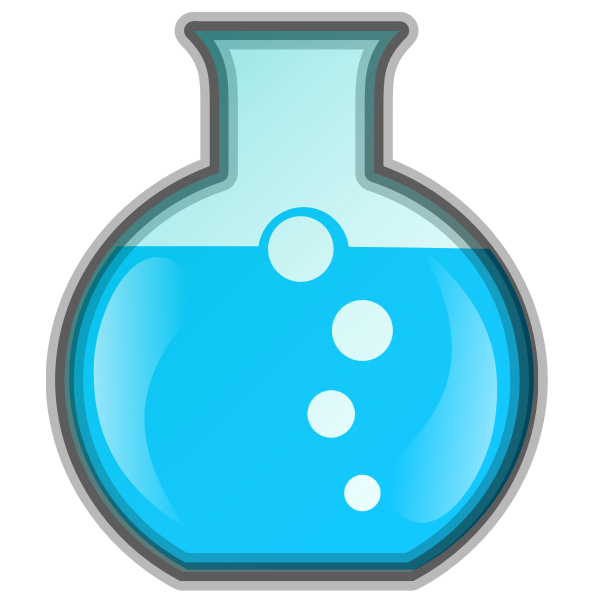 Vector drawing of lab chemical icon