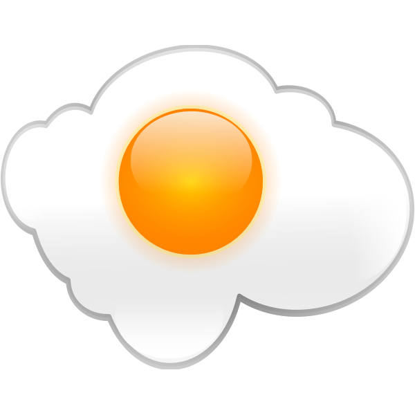 Vector graphics of breakfast egg with reflection