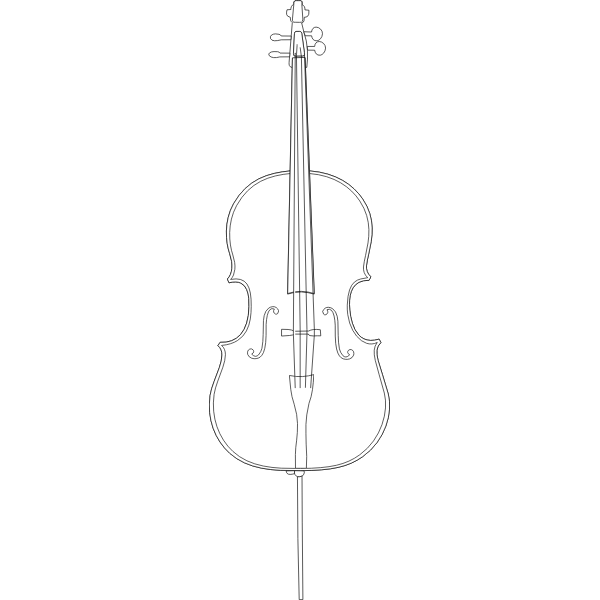 Cello vector line drawing