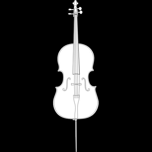 Vector Image Of A Cello Free Svg