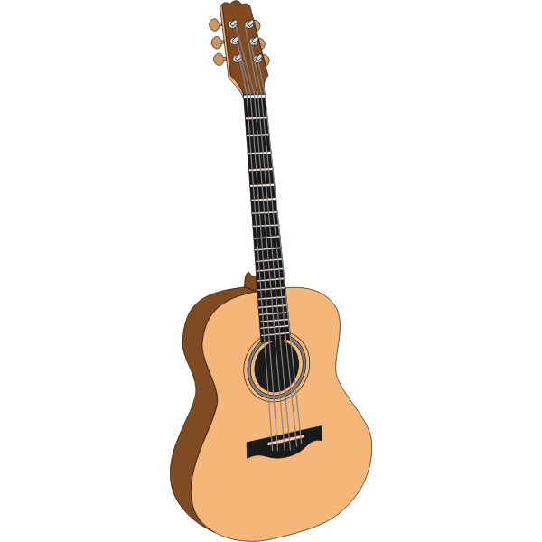 Acoustic guitar vector drawing