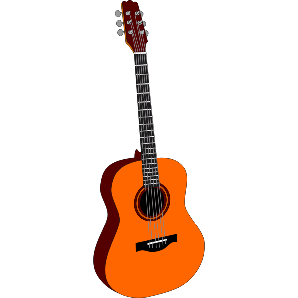 Acoustic guitar clip art vector graphics