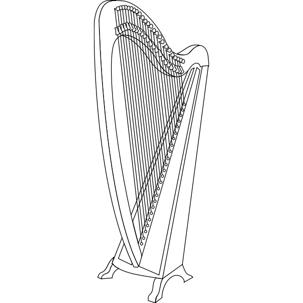 Vector graphics of harp