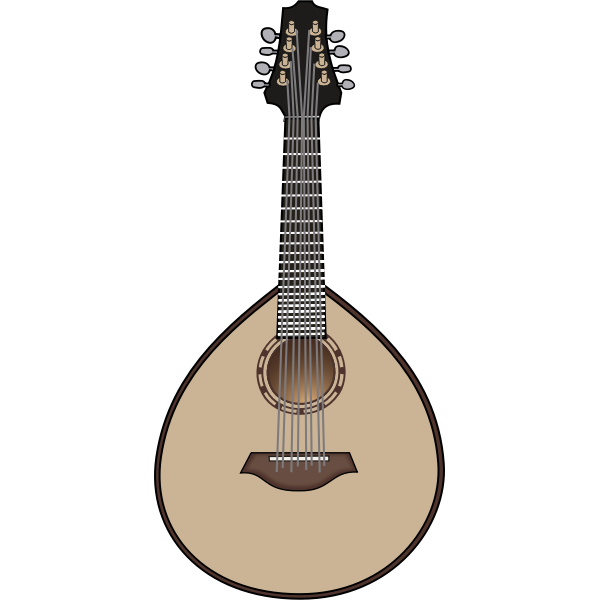 Mandolin vector illustration