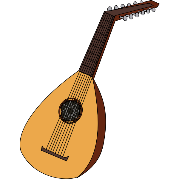 Lute vector image