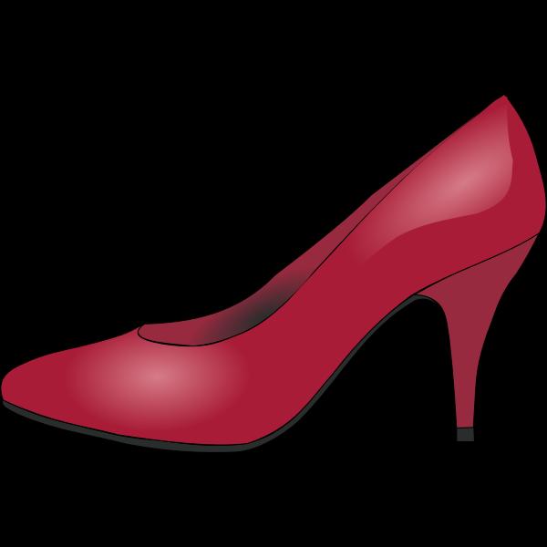 Red shoe vector clip art