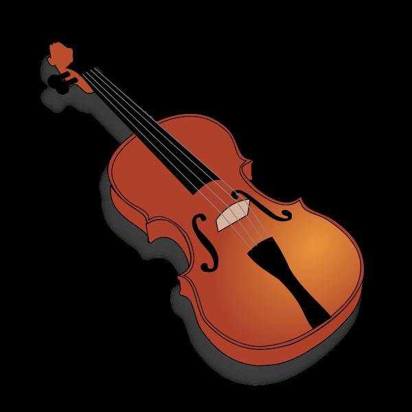 Vector image of violin